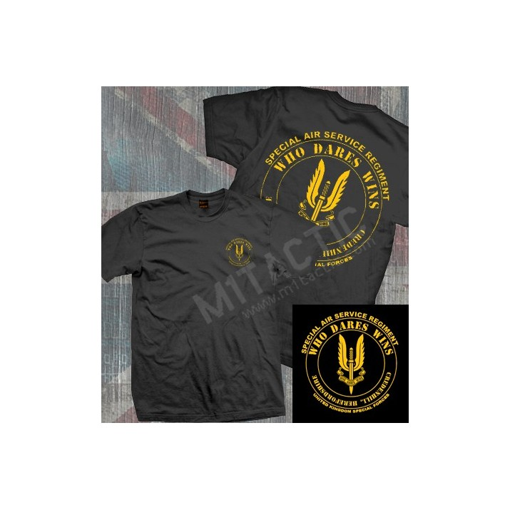 Camiseta SAS (Special Air Service) Negra