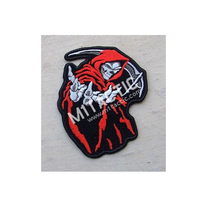 Parche / Emblema Muerte Encapuchada (Rojo)
