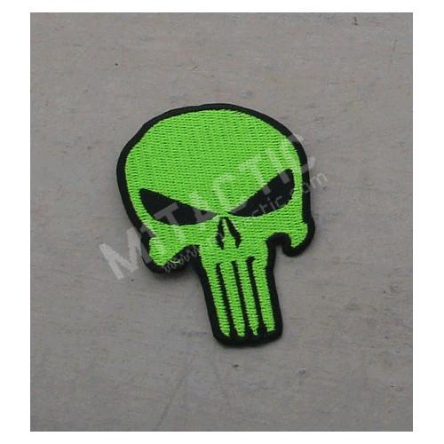Parche / Emblema de Punisher de alta calidad (verde fosforito)