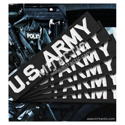 Nametape personalizado Negro - Blanco (SWAT)