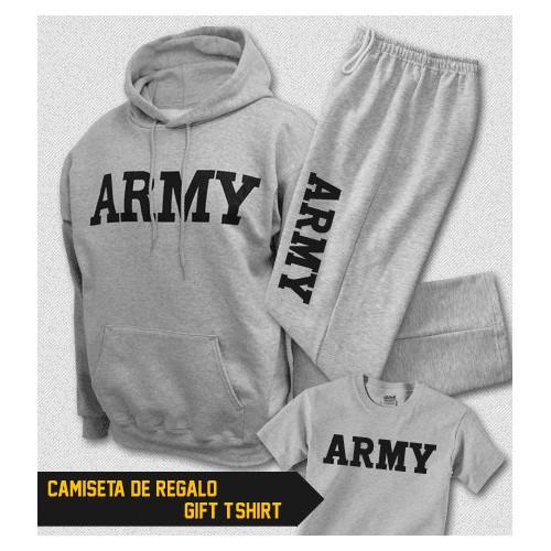 ARMY Formation physique capuche sweat-shirt et survêtement