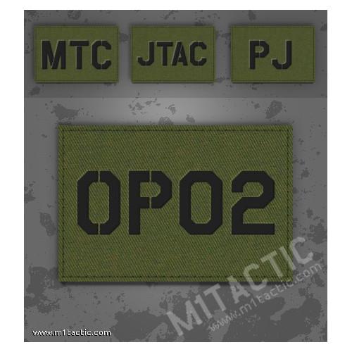Parche de operador identificativo / callsign personalizado en Verde Oliva