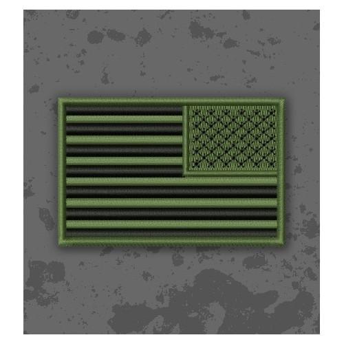 Bandera USA Olive Drab Invertida