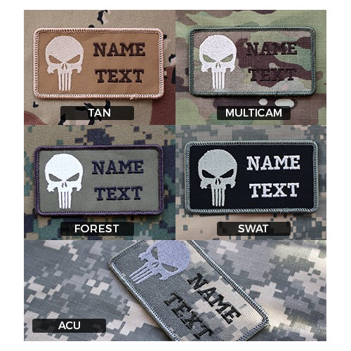 Parche de combate identificativo personalizado Punisher