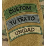 Customizable Text Tab Patch in various camouflages