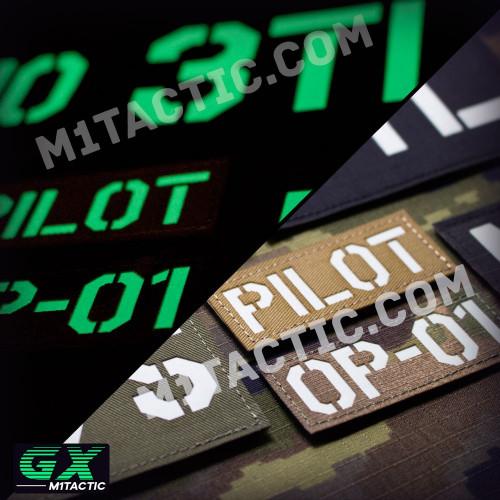 Personnalisée Identifiant D'Opérateur / Callsign Patch (Brillent dans le noir)