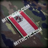 Embroidered Low Visibility Spain flag patch
