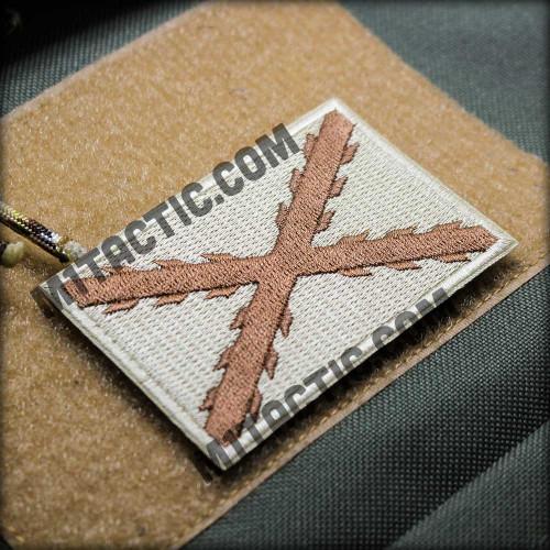Croix de Bourgogne Patch brodé - Tons bruns