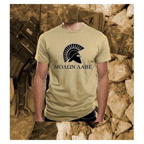 Camiseta Molon Labe TAN/Árida