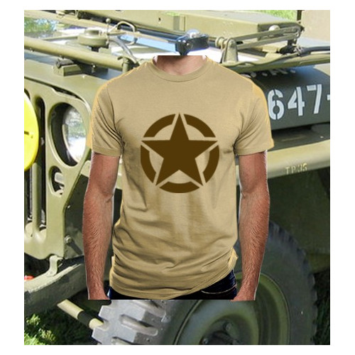 Camiseta WWII Star TAN/Árida