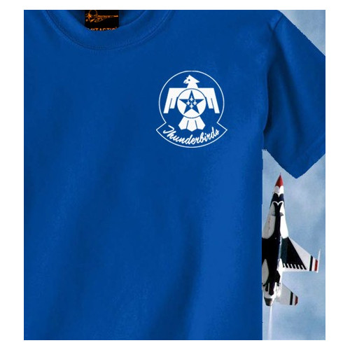 Camiseta USAF Thunderbirds Azul Royal