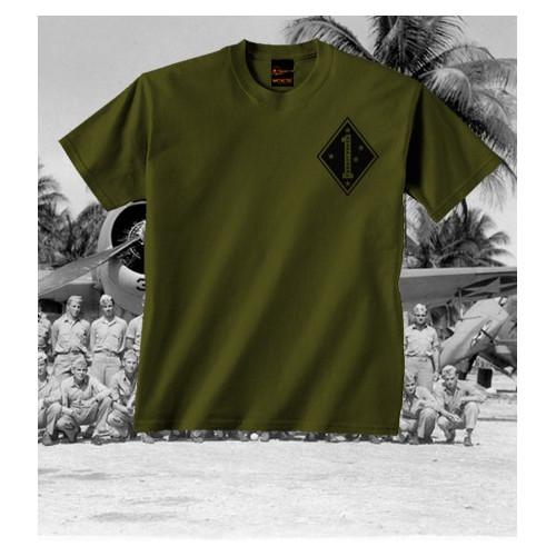 Camiseta 1st Marine Division Guadalcanal Olive Drab
