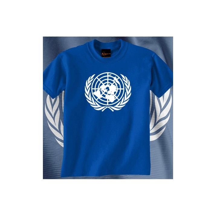 Camiseta ONU Azul Royal