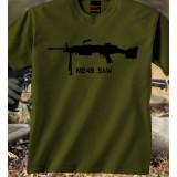 Camiseta M249 SAW Olive Drab