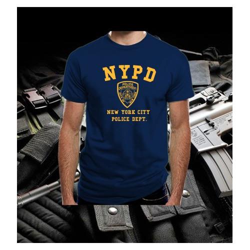 Camiseta NYPD Navy-Amarilla