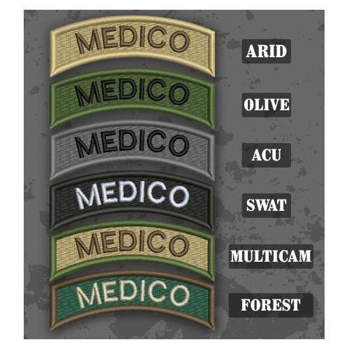 Parche / Ribo de brazo de Medico en varias tonalidades