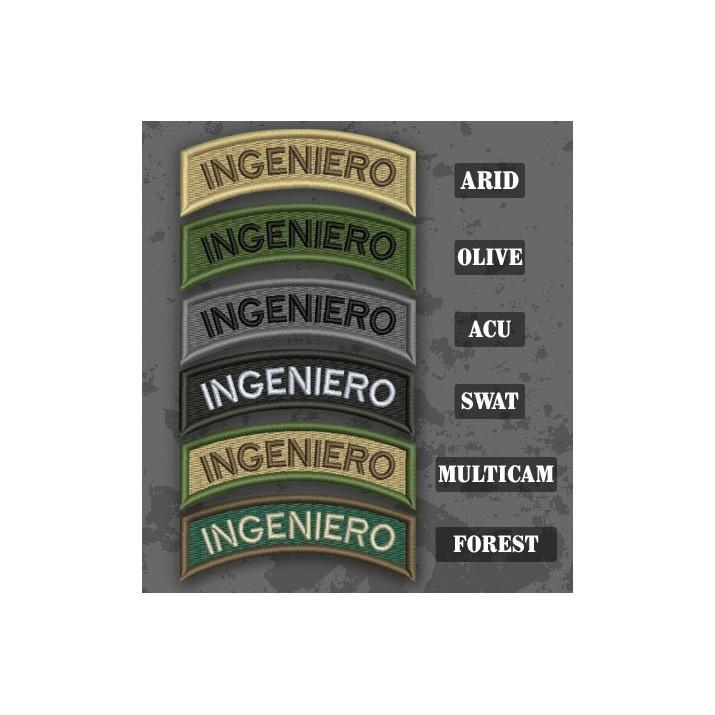 Parche / Ribo de brazo de Ingeniero en varias tonalidades