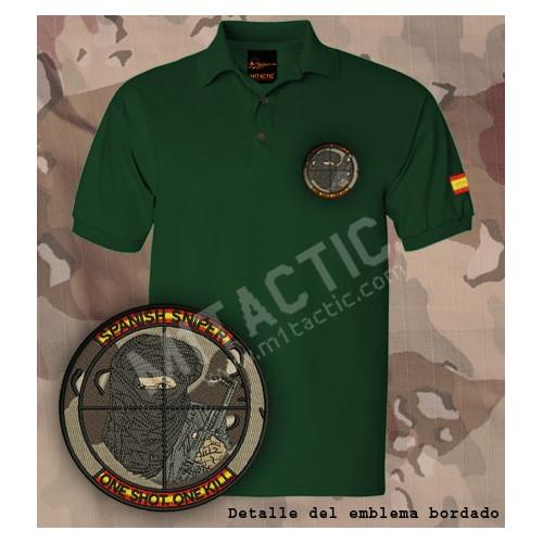 """Polo Verde Francotirador """"SPANISH SNIPER"""" Ejército Español"""