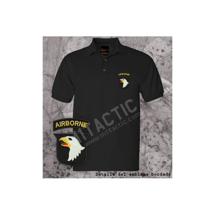 Polo 101st Airborne Negro