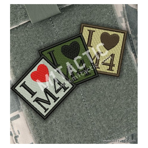 "Parche bordado ""I love M4"""