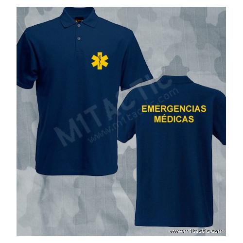 Polo Emergencias Médicas Azul-Amarillo