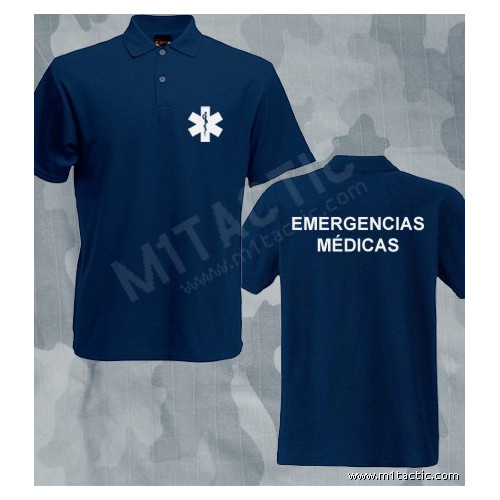 Polo Emergencias Médicas Azul-Blanco