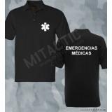 Polo Emergencias Médicas Negro-Blanco