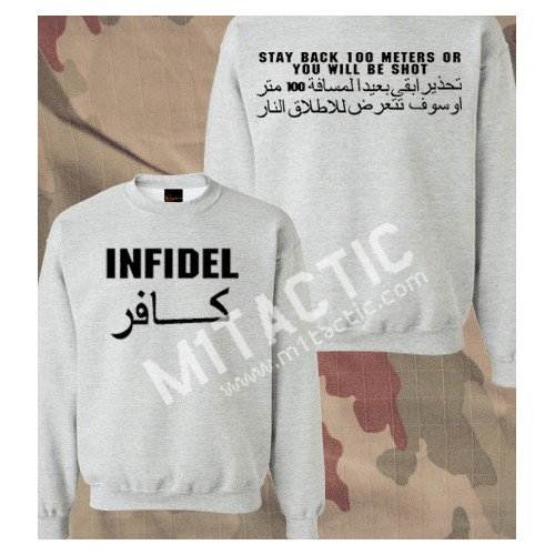 Sudadera Infidel - Stay back 100 meters... Gris