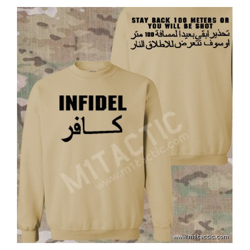 Sudadera Infidel - Stay back 100 meters... Árida