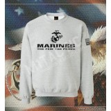 Sudadera Marines The Few. The Proud Gris