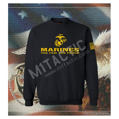 Sudadera Marines The Few. The Proud Negra-Amarilla