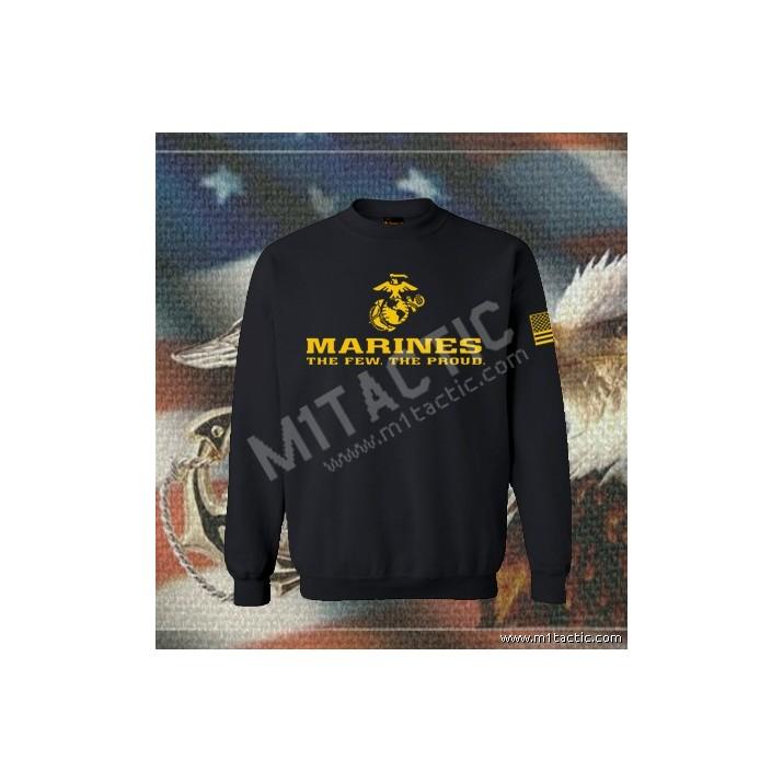 Sudadera Marines The Few. The Proud Negra-Amarilla