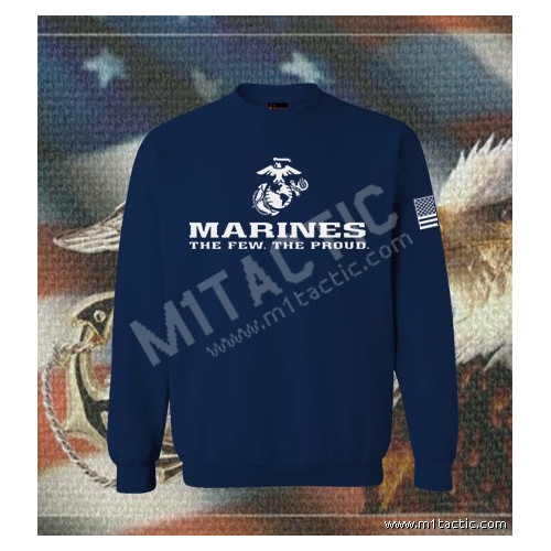Sudadera Marines The Few. The Proud Navy-Blanca