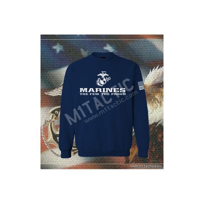 Sudadera Marines The Few. The Proud Navy-Blanca