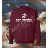 Sudadera Marines The Few. The Proud Burdeos-Blanca