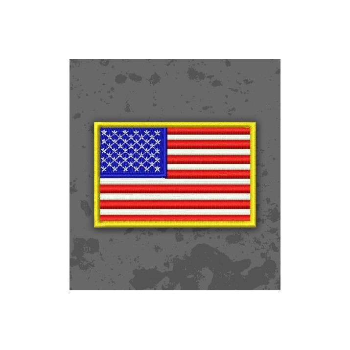 Parche / Bandera de USA Color Original Borde Amarillo