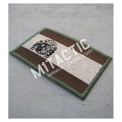 Embroidered Multicam/Subdued Spain flag patch