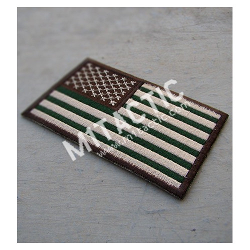 Embroidered Forest/Woodland USA Flag Patch