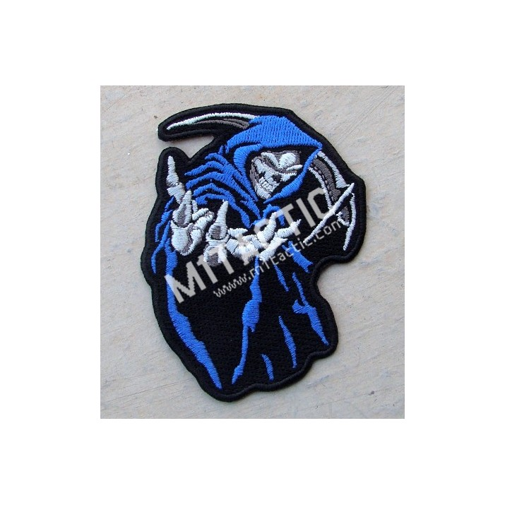 Parche / Emblema Muerte Encapuchada (Azul)