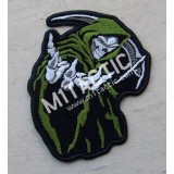 Hooded Grim Reaper Skull (Green) Patch