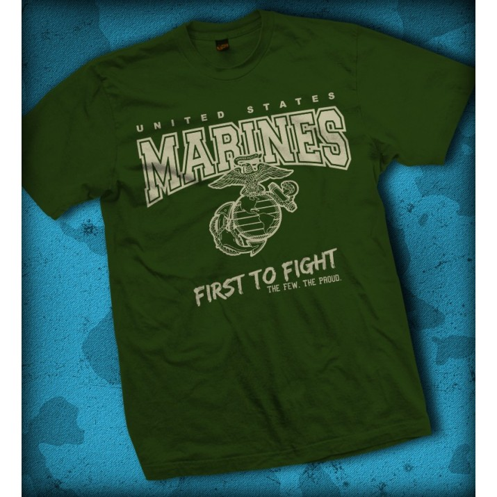 "Camiseta US Marines - ""First to Fight"""
