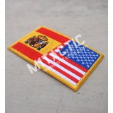 Parche / Bandera de USA-España
