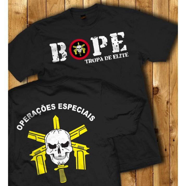 """Camiseta BOPE - Tropa de Elite """"Operações especiais"""""""