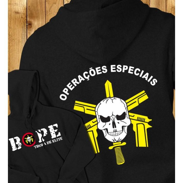 """BOPE - Tropa de Elite """"Operações especiais"""" Hooded Sweatshirt"""