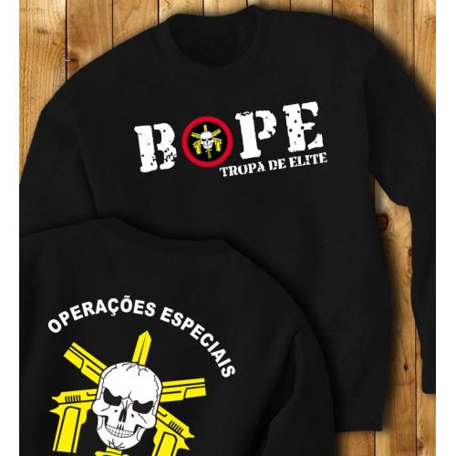 """BOPE - Tropa de Elite """"Operações especiais"""" Sweater"""