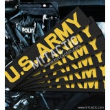 Custom Black - Yellow Name Tape (SWAT)