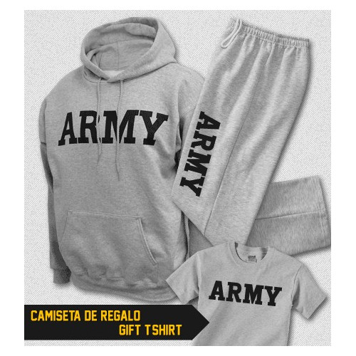 ARMY Physical Training Hooded Pullover Sweatshirt and Sweatpants