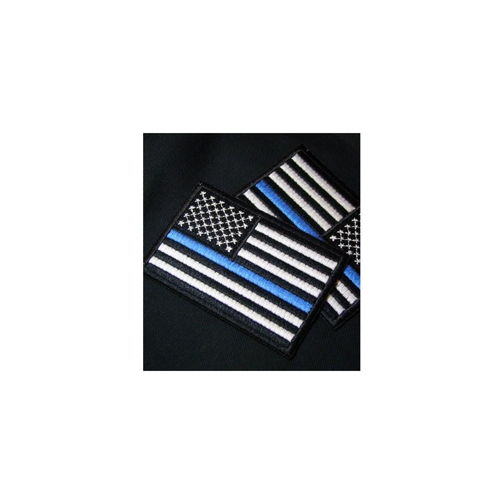 thin blue line union flag patch cops - 1000×1000