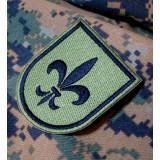 Emblema / Parche Ejército de Tierra Flor de Lis Verde