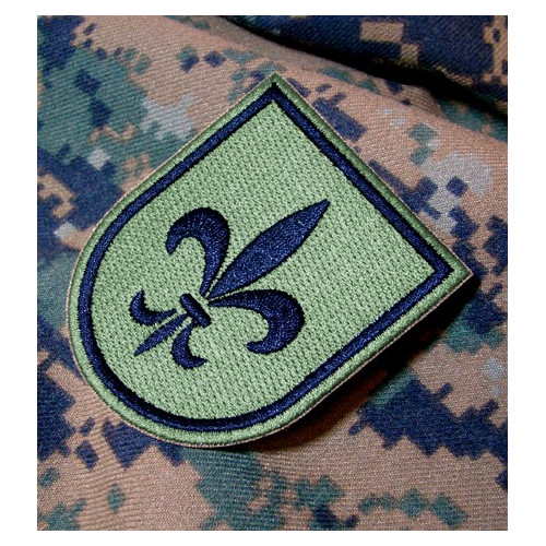 Emblema / Parche Ejército de Tierra Flor de Lis (BPAC I) Verde